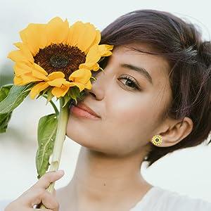 sunflower studs earring stud earring for girls flower stud earring