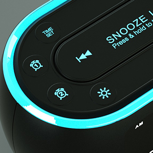 Lighted- in -the dark button