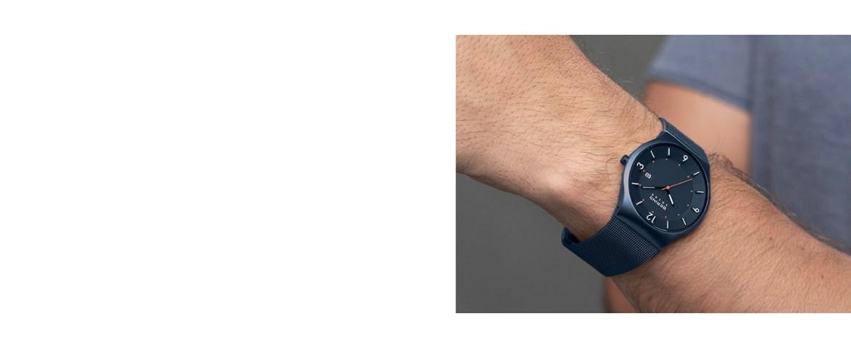 Bering Wristwatch Sapphire Glass Watch Slim Solar Behring Skagen Classic Design Watch Milanaise