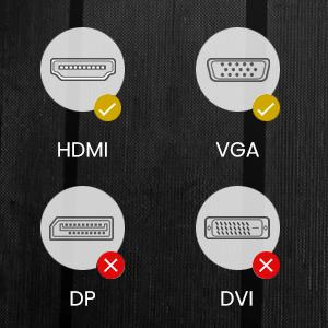 Du port HDMI au port VGA au lieu du port DP ou du port VGA