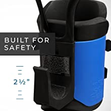 Built for Safety. 2.5 inch hooks