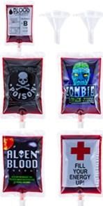 Halloween party supplies blood bags