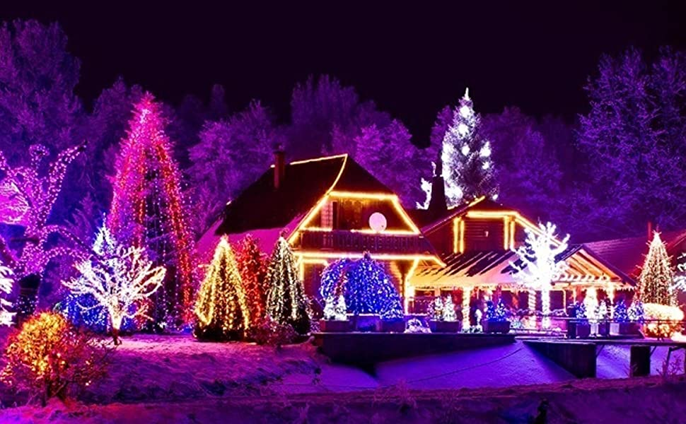 LED Christmas Lights 70 Counts G12 Bulbs, for Outdoor and Indoor, Multi Colored Light
