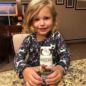 organic milk, snack time,