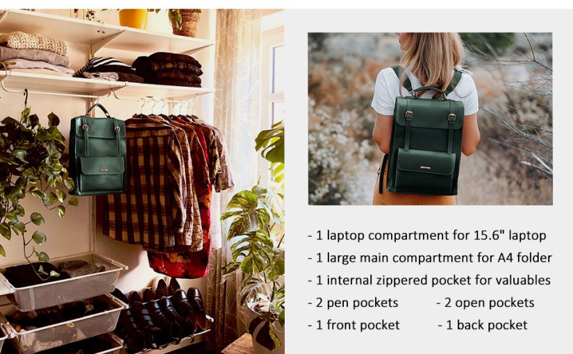 vintage backpack for laptop