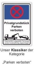 Parken verboten Schild