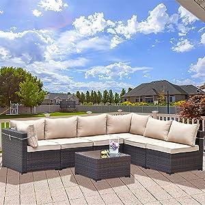7 Pieces Outdoor Furniture Set