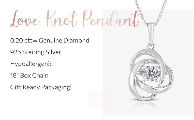 Diamond Pendant Necklace Gift Woman