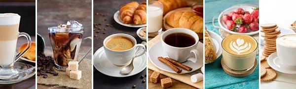 espresso, cappuccino ,latte