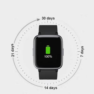 YAMAY Smart Watch Fitness Tracker with Pedometer Heart Rate Monitor for iPhone Samsung Android Phone