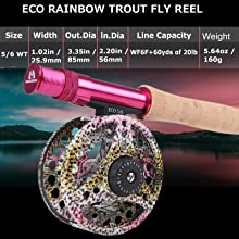 rainbow trout fly reel