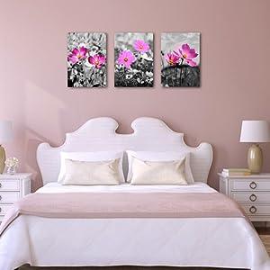 Pink gesang flower wall art