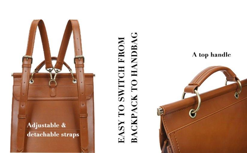leather laptop bag women