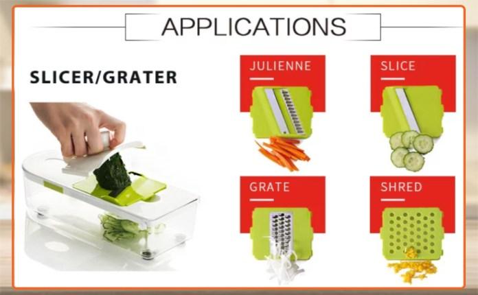 vegitable cutter pad for kitchen slicer and shredder vegetable cutter blade set