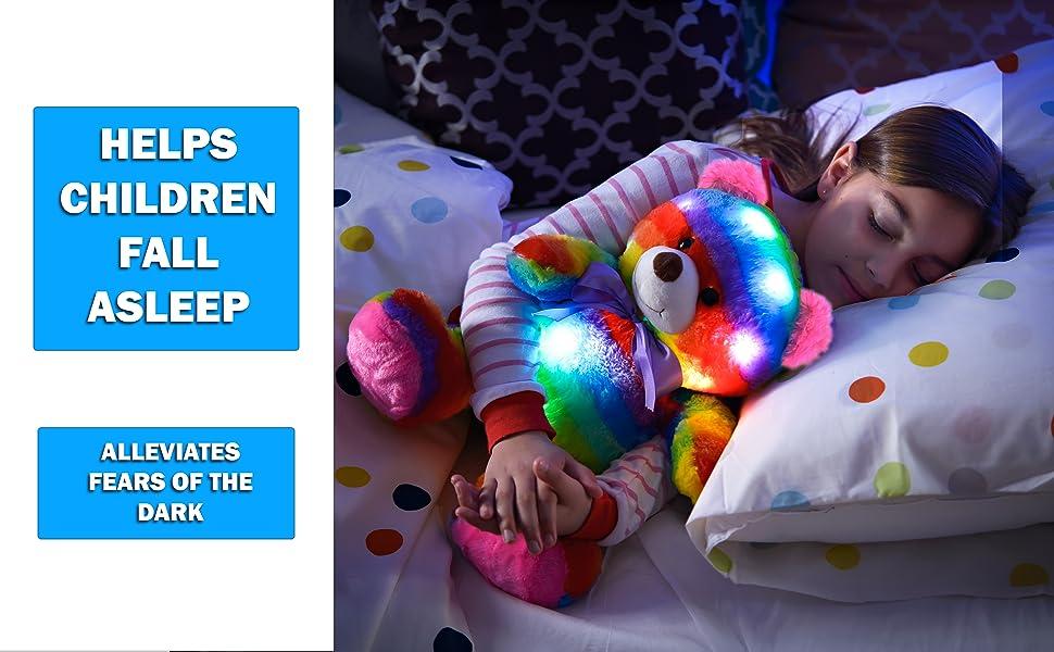 make helps children fall asleep afraid of the dark scared night distraction sleep toy