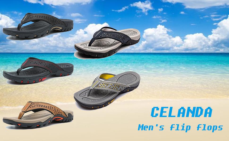 Bequeme Strandsandalen für Herren im Sommer