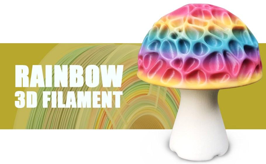 rainbow pla 3d printer filament 1.75mm