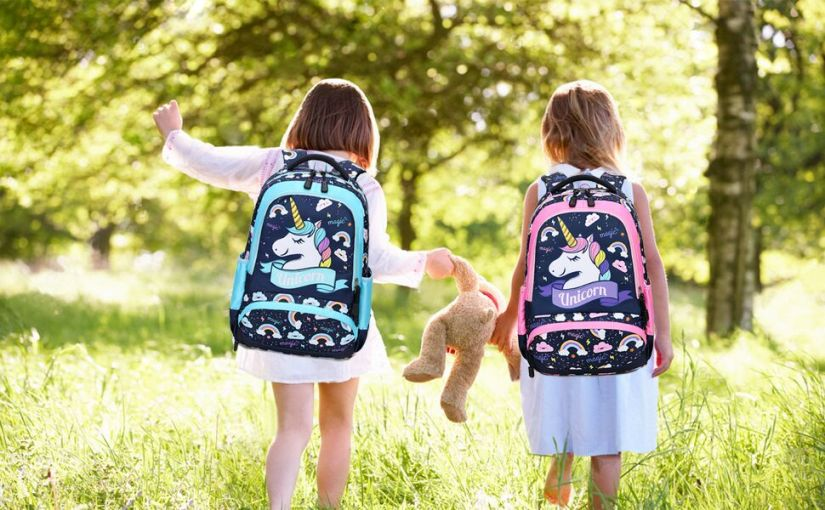 girls school backpack set