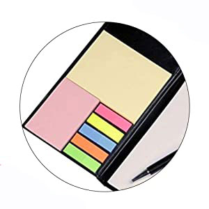 Memo Note Pad/Memo Note Book with Sticky Notes & Clip Holder in Diary Style