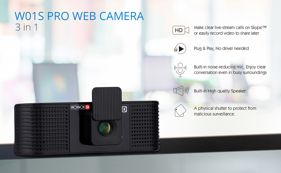 web camera with speakers