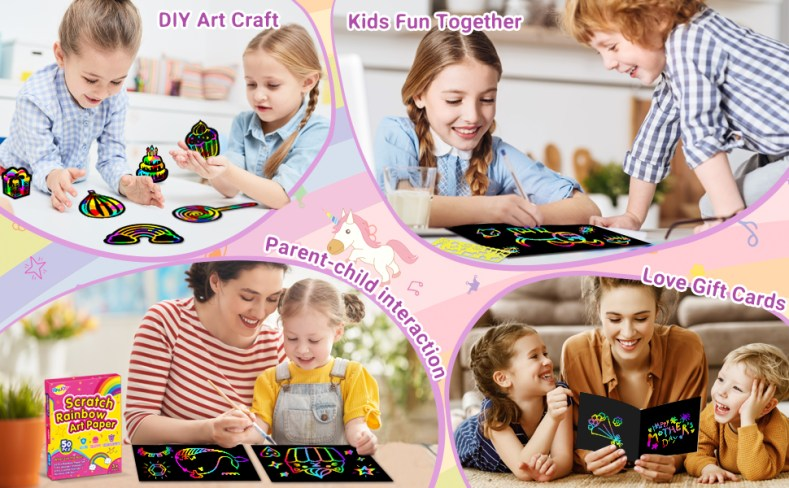 RMJOY RAINBOW SCRATCH PAPER FOR KID