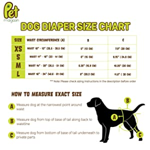 Doggie manner wraps bands nappies female strap stool for elderly old young canine Golden Retrievers