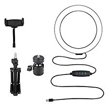 PACKAGE ITEM INCLUDED RING LIGHT MOBILE HOLDER TRIPOD STAND