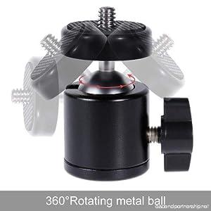 BALL HEAD ROTATION TILT PAN UP DOWN FOR TRIPOD CAMERA MOBILE STAND CLIP HOLDER BRACKET MOUNT TIKTOK