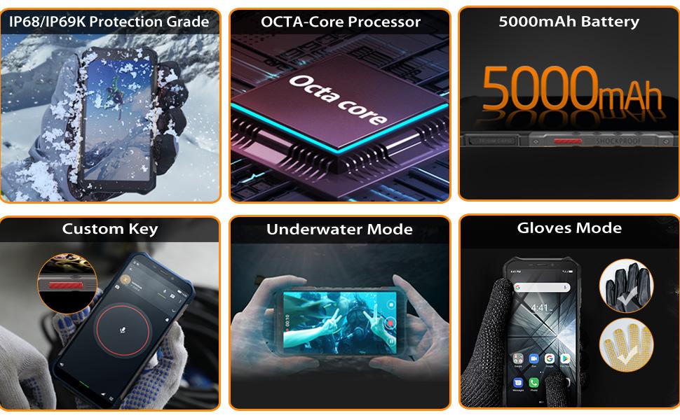 ulefone armor x5 rugged smartphones