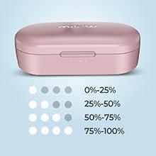 wireless earphones girl women  pink bluetooth earbuds sport gift wife