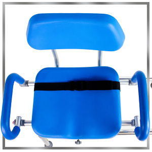 high contrast hi-view blue blu shower chair platinum health
