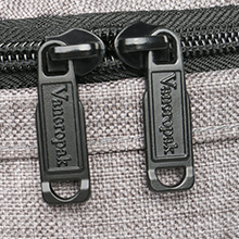 Durable metal zippers close and open smoothly, ensure a secure  long-lasting usage everyday  weekend