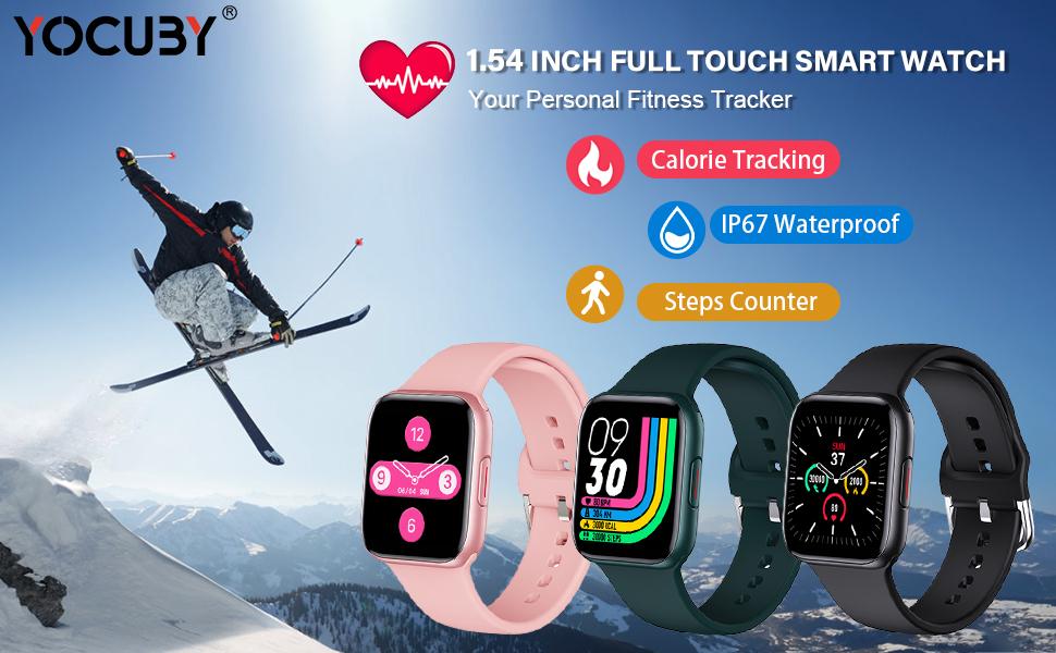 Smart Watch for Women Men Yoga Fitness Tracker