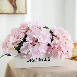 粉色绣球花