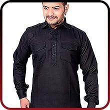 KUSHANJALI DESIGNERS Cotton Pathani Salwar Suit For Men/Boys. SPN-FOR1
