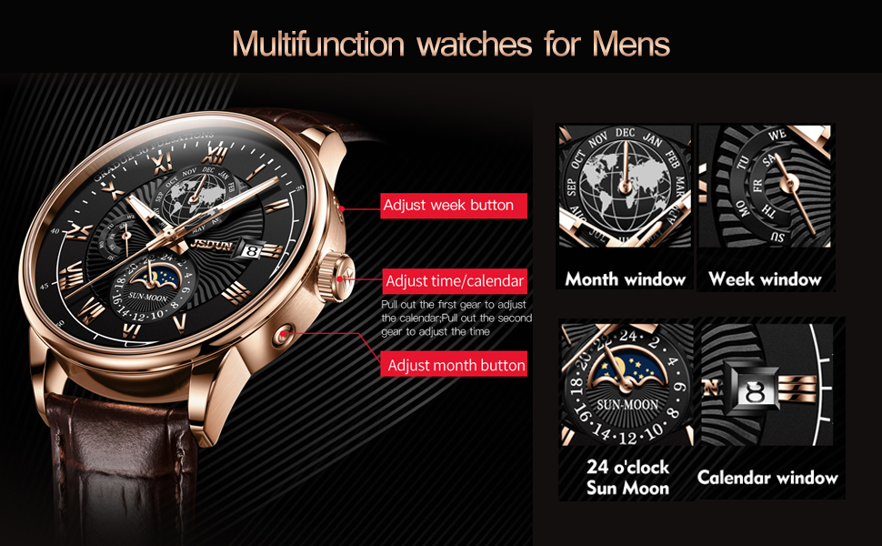 leather watches for mens