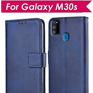 607321a8 4c4f 4b34 a961 773d88b0e532.  CR0,0,438,438 PT0 SX300 V1    - WOW Imagine Galaxy M21 / M30s Flip Case | Leather Finish | Inside TPU with Card Pockets & Stand | Magnetic Closure | Shock Proof Wallet Flip Cover for Samsung Galaxy M30s / M21 - Blue