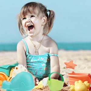 Kinder Sommer glücklich