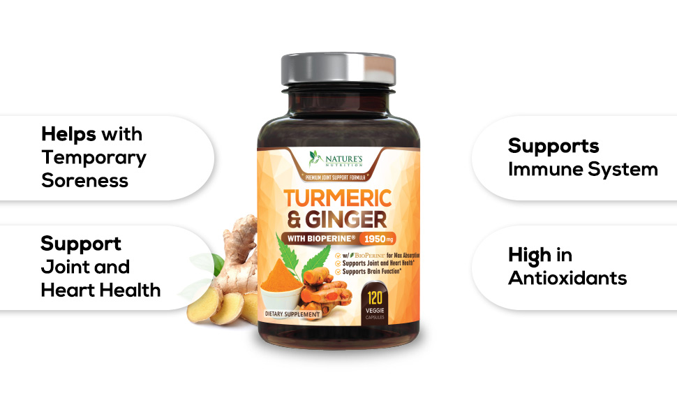 Turmeric Curcumin with BioPerine and Ginger