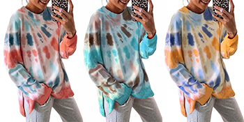 Tie Dye Long Sleeve Tops