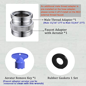 faucet adapter garden hose aerator