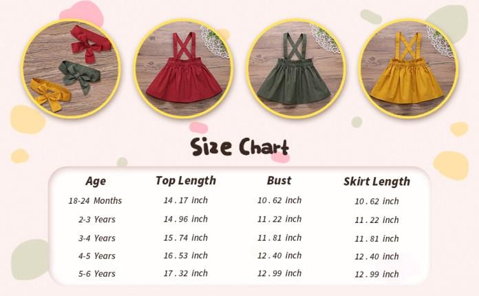 BABY GIRL SIZE CHART