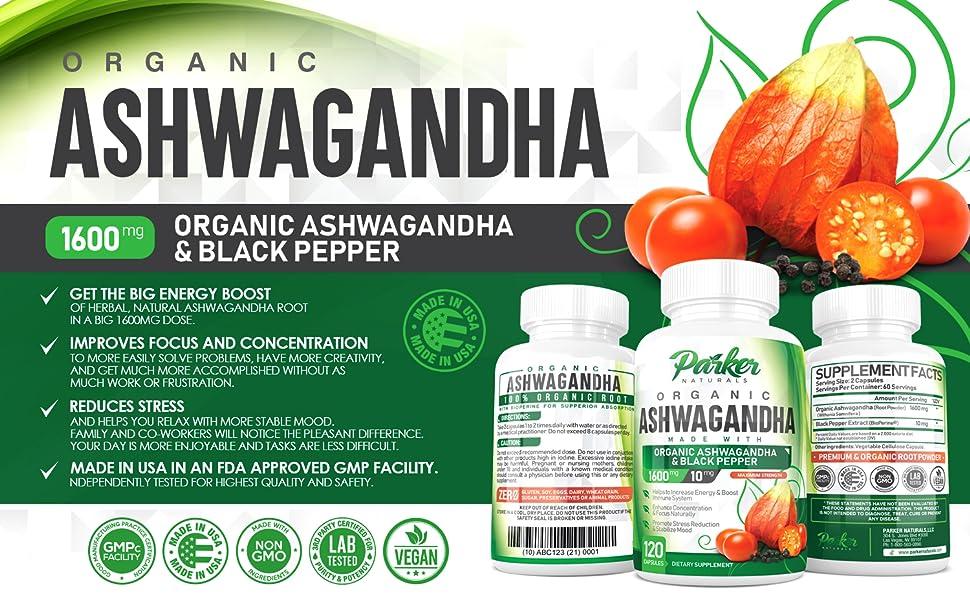 Ashwagandha big energy boost improves focus reduce stress black pepper