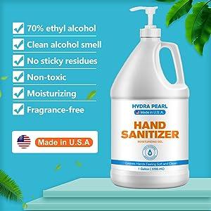 1 gallon Hydra Pearl Hand Sanitizer Gel