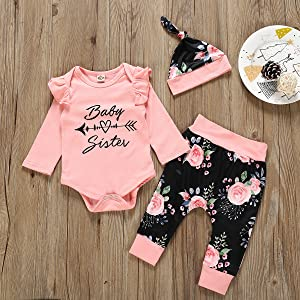 Baby sister baby gir clothes outfit