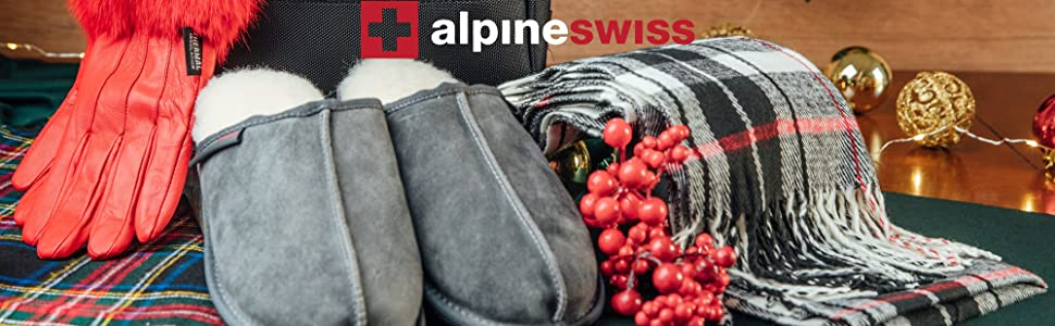 alpine swiss scarf slippers holiday gloves