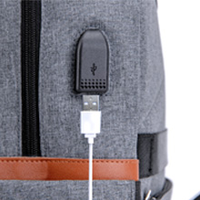 Connect with your own USB cable from outside