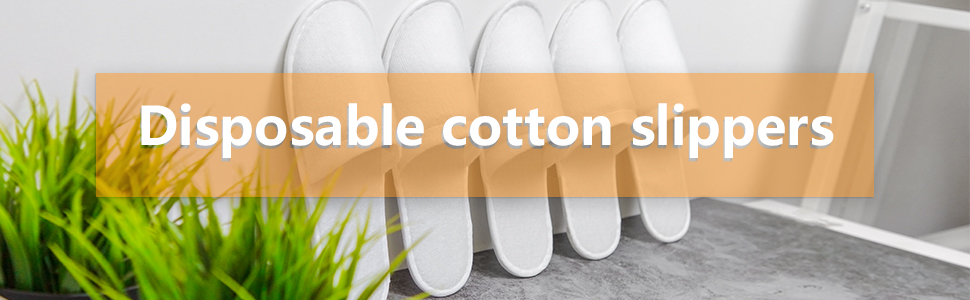 Disposable cotton slippers