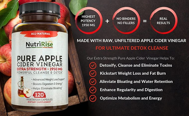 apple cider vinegar capsules pills tablets detox
