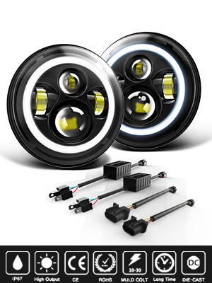 RL & Amber Turn Signal Lights High/Low Beam For Jeep Wrangler JK LJ CJ Hummer H1 H2